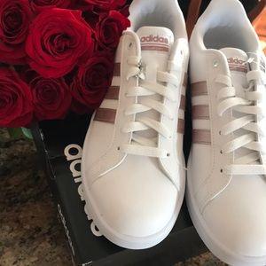Adidas Cloudfoam sneakers rose gold